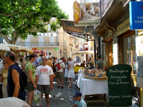 Tuesday is Market Day in Vaison-la-Romaine