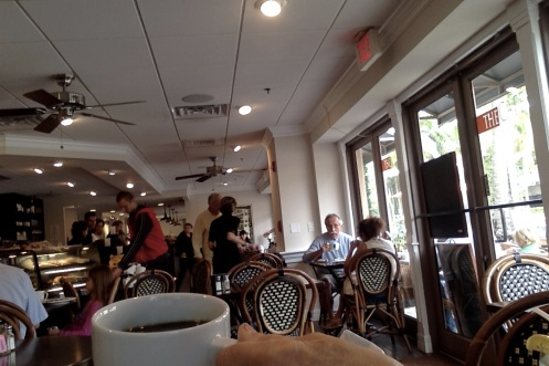 Fast breakfast near Fifth Avenue and the Cove Inn in Naples, Florida