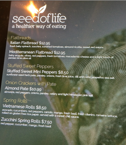 Save paper!  The menu is on an iPad.